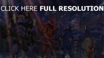 evangelion eva roboter stadt ruinen