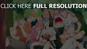 kuroko no basket befehl jungs mädchen lachen lächeln