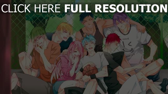 hd hintergrundbilder kuroko no basket befehl jungs mädchen lachen lächeln