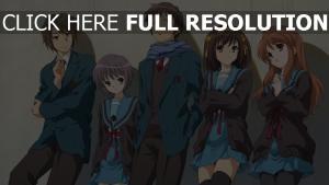 haruhi suzumiya charaktere jungen mädchen haruhi