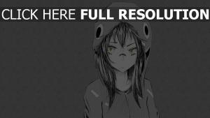 mädchen kapuze grau einfarbig