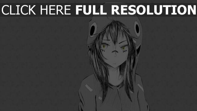 hd hintergrundbilder mädchen kapuze grau einfarbig