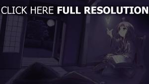 mädchen buch zimmer dunkel buchstabe magie