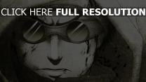 aburame shino naruto zeichnung einfarbig junge gläser haube