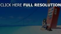 strand mädchen getränke automatische himmel