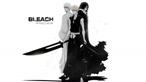 bleach kurosaki ichigo jungs schwerter schwarz und weiß