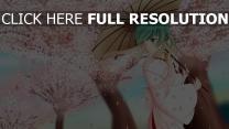 sakura regenschirm kimono vocaloid hatsune miku