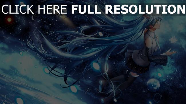 hd hintergrundbilder himmel sterne vocaloid hatsune miku