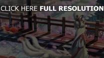sakura straße mädchen kapuze