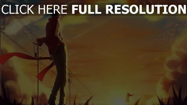 hd hintergrundbilder sonnenuntergang himmel kagerou projekt tateyama ayanoki saragi shintaro