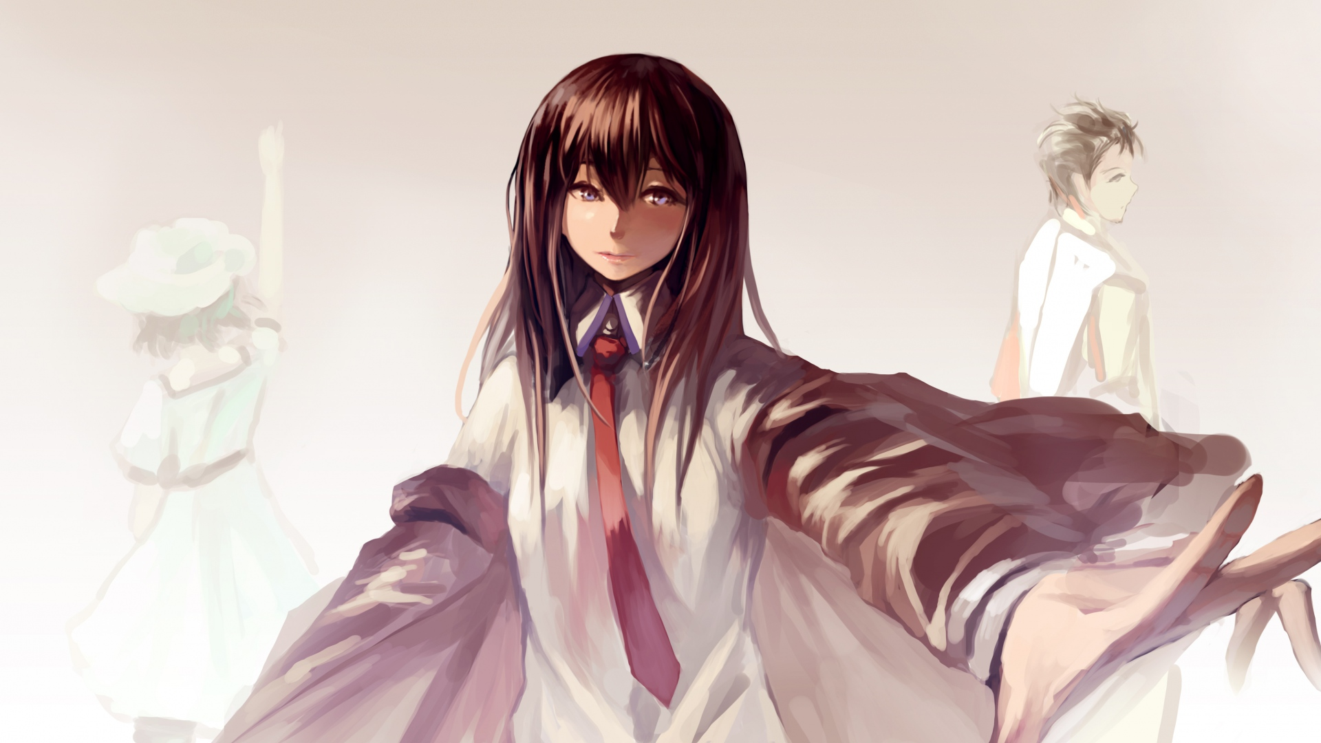 hd hintergrundbilder mädchen hemd mou kankan shiina mayuri 1920x1080