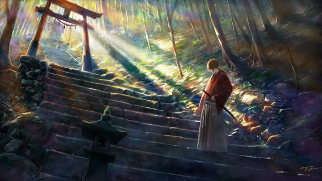hd hintergrundbilder samurai katana kenshin himura kenshin