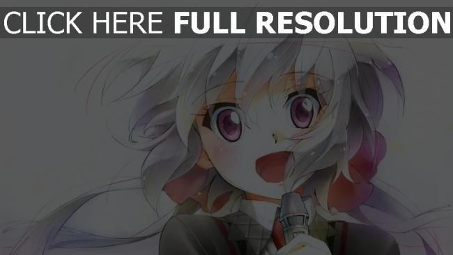 hd hintergrundbilder mädchen gesicht mikrofon senk zesshou symphogear chris yukine