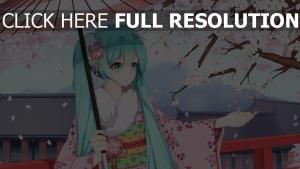 vocaloid hatsune miku zucker ton mädchen sakura kimono