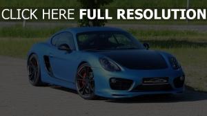 porsche cayman s speedart sp81 cr 360 blau sportwagen sport autos