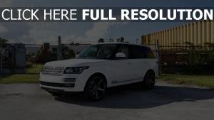 2013 Range Rover HSE range rover weiß jeep sport