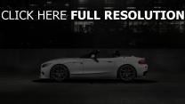 bmw z4 roadster weiß seitenansicht straße nacht