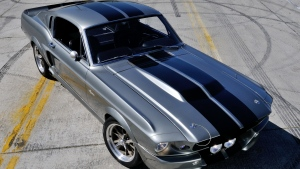 ford mustang gt500 shelby eleanor musclecar grau vorderansicht