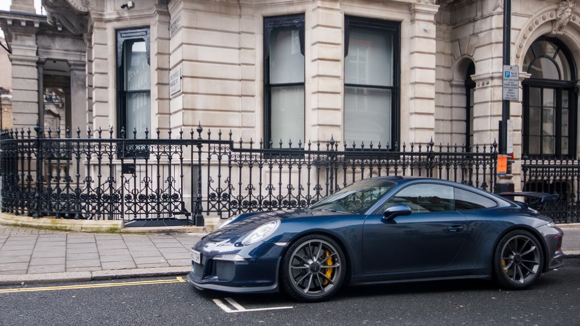 Dark Blue Metallic Car Paint