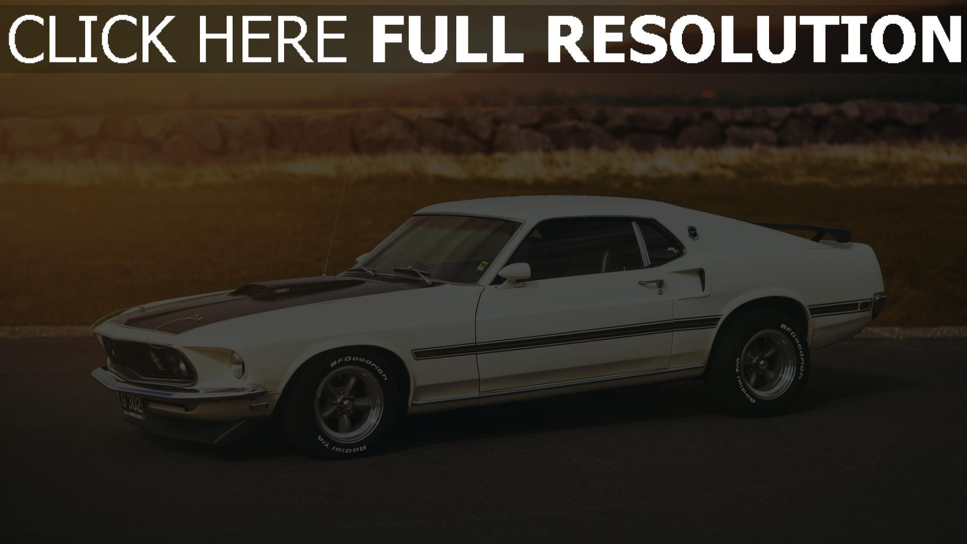 Hd Hintergrundbilder Ford Mustang Mach 1 Wei 223 Schwarz