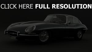 jaguar e type retro schwarzes sportscar
