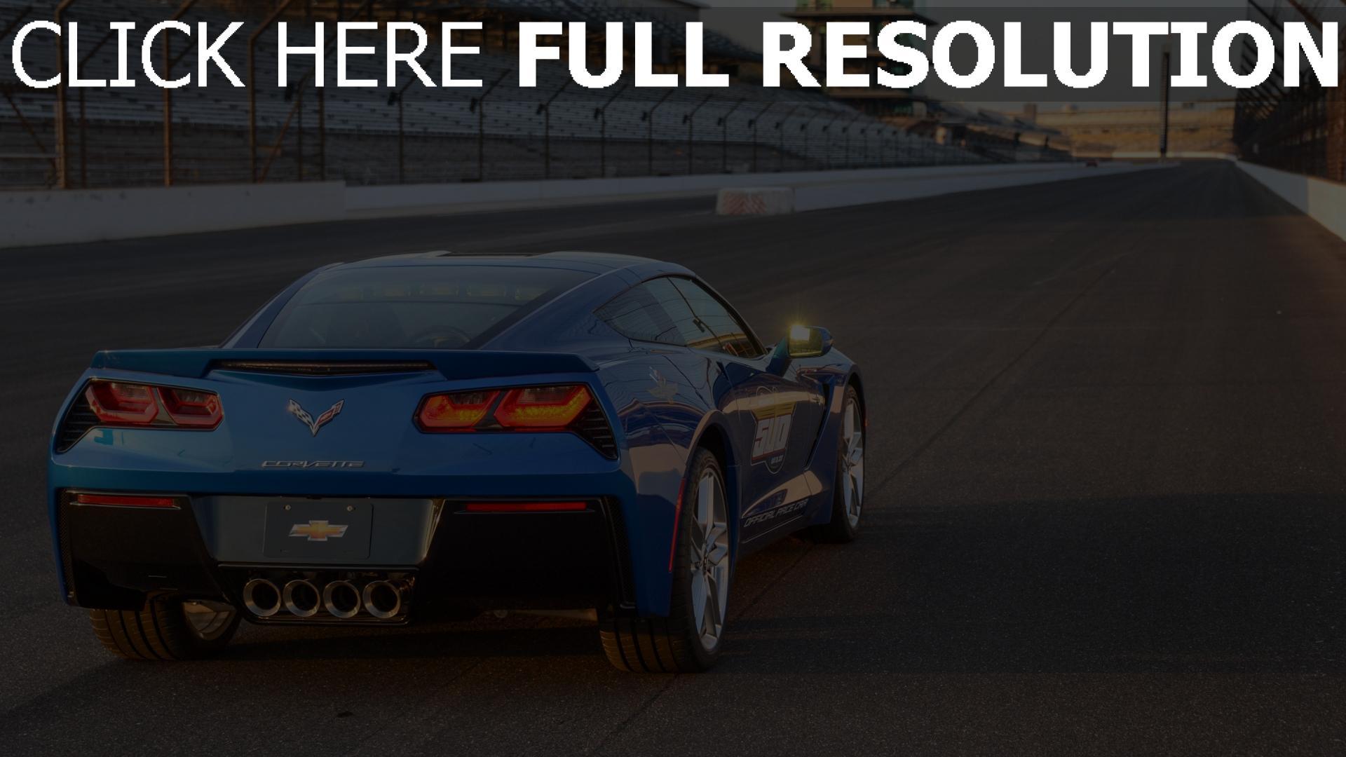 Hd Hintergrundbilder Chevrolet Corvette C7 Stingray Blau