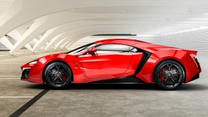 lykan hypersport w motors supersportwagen rot seitenansicht