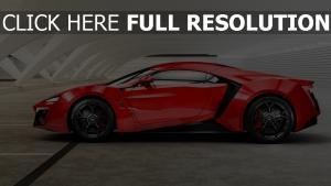 lykan hypersport w motors supersportwagen rot seitenansicht