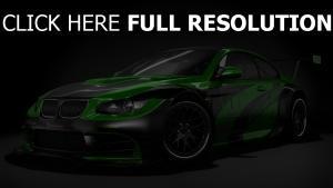 bmw m3 sportwagen tuning grün seitenansicht