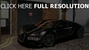 bugatti veyron supercar matt-schwarz frontansicht