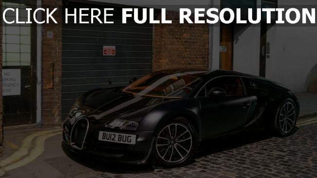 hd hintergrundbilder bugatti veyron supercar matt-schwarz frontansicht