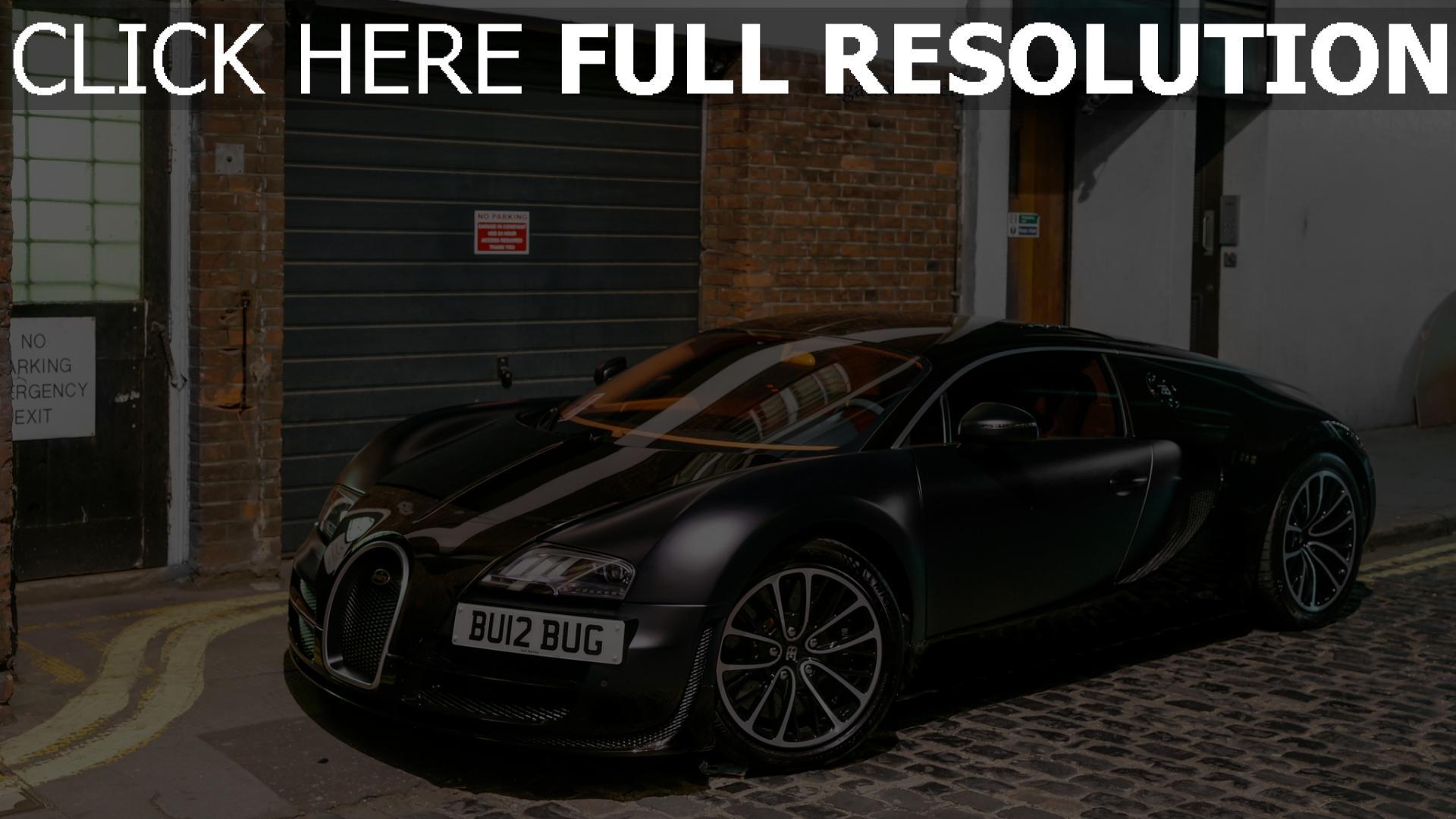 Hd Hintergrundbilder Bugatti Veyron Supercar Matt Schwarz
