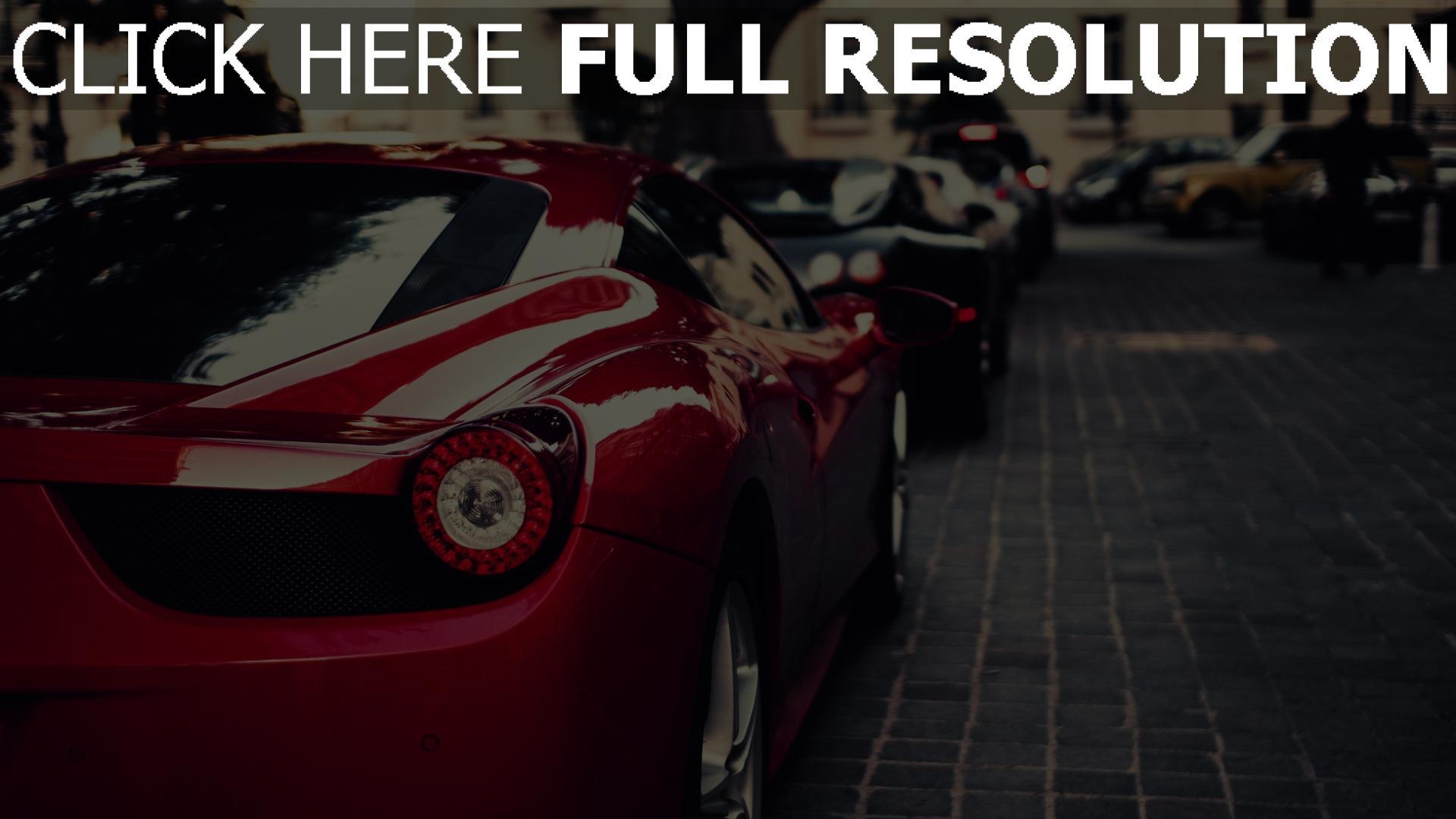 HD Hintergrundbilder Ferrari 458 Italia Sportwagen Rot