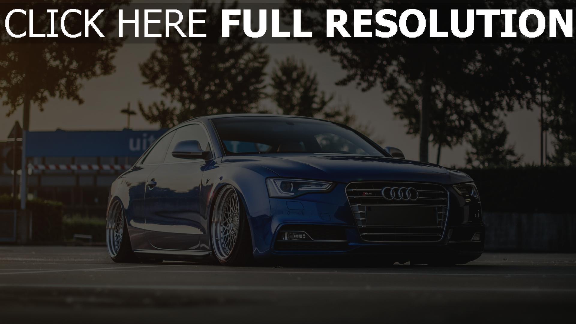 Hd Hintergrundbilder Audi S5 Coup 233 Blau Tuning Stadt