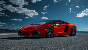 lp740-4 sideview aventador-v red lamborghini