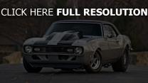 camaro frontview chevy car 1968