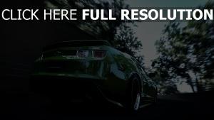 grün geschwindigkeit camaro rear bumper blur chevrolet