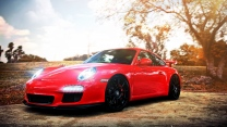 car red auto cars porsche