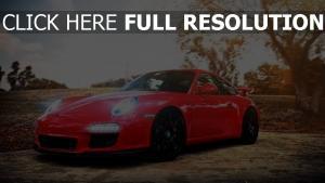 car red auto cars porsche