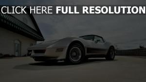 1982 side view corvette silver chevrolet