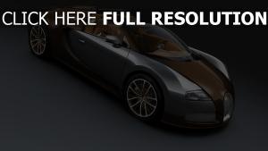 bugatti veyron grand sport supersportwagen braun seitenansicht