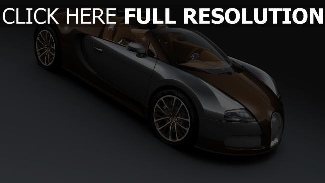 hd hintergrundbilder bugatti veyron grand sport supersportwagen braun seitenansicht