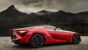 corvette zr1 bertone mantide sportwagen rot seitenansicht