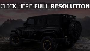 jeep wrangler drachen design konzept schwarz seitenansicht