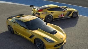 car chevrolet sports z06 gelb
