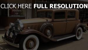 vintage straßeauto brown buick 1932 whitewall