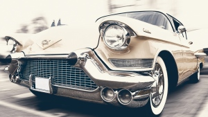 aussicht front cadillac oldtimer