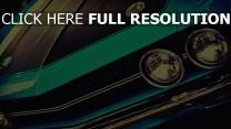 muscle car front auto  challenger classic straße bumper scheinwerfer