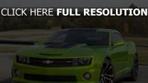 auto grün cars chevrolet camaro