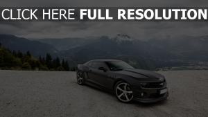 schwarz mountainshimmel ss chevrolet camaro wolken